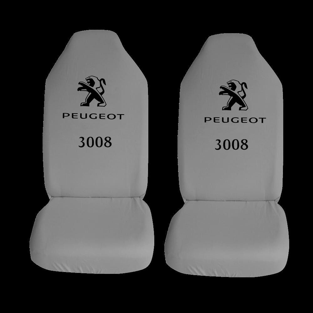 Peugeot 3008 Ozel Araba Oto Koltuk Kilifi On Koltuklar Gri Penye Araca Ozel Baskili Bayilere Ozel Kdv