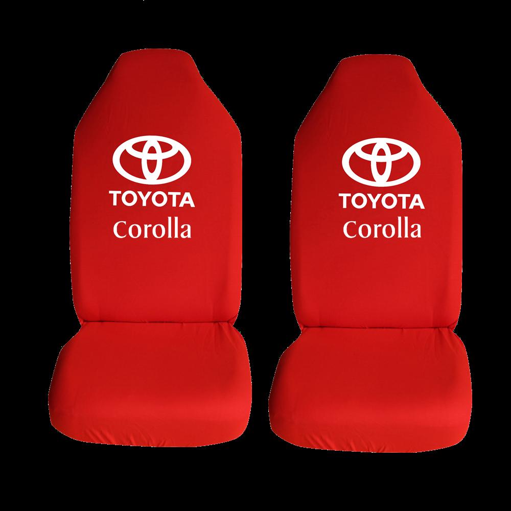 Toyota Corolla Ozel Araba Oto Koltuk Kilifi On Arka Takim Kirmizi Penye Araca Ozel Baskili Bayilere Ozel Kdv
